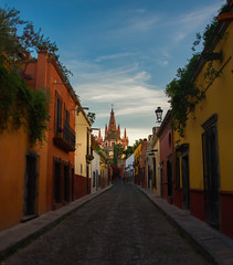 Looks like Disneyland (XSNRG27) Tags: church landscape mexico nikon cross bell colonial iglesia chapel belltower mexican sanmigueldeallende neogothic parroquia cobblestonestreets landscapephotography nikond600