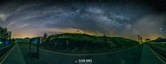 High Way Above (elganjones1) Tags: uk sky panorama wales night canon way jones long exposure nightscape cymru milky 6d 14mm samyang elgan