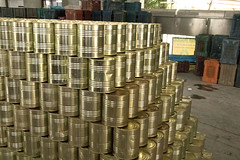 Stack of Cans Awaiting Labels (IFPRI-IMAGES) Tags: food india plant tin foods village farm farming grow security vegetable can storage health produce farmer agriculture yield process cannery cultivation sustainable nutrition southasia massproduction manoli haryana farmtotable pratibha sonipat smallfarms foodsecurity agriculturaldevelopment foodprocessingplant farmtofork micronutrients ifpri csisa