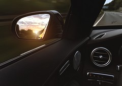 Sunset (Thomas_982) Tags: cars sunset street autobahn black deutschland germany mercedes sonnenuntergang motion benz
