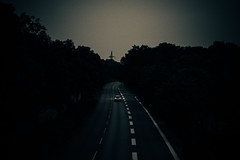 Alone in the morning (Albin Kurtanovic) Tags: alone morning nobody here driving nowhere dark outside trees black one road car