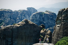 Thank you (Catherine Popova) Tags: greece travel south europe greek life meteora ancient nature people happy stones rocks