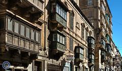 Valletta Street Scene (Michael N Hayes) Tags: malta valletta mediterranean europe street balconies summer fujixpro1 culture city shop