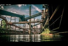 Straight lines (TessaSmits) Tags: abandoned essen mine factory eerie unesco panasonic ruhr zollverein zeche coalmine industriekultur dmczf100