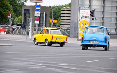 Trabant safari (Maria Eklind) Tags: building berlin cars architecture germany de europe outdoor potsdamerplatz sonycenter tyskland trabant
