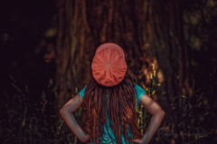 Just a Tree (limebluphotography) Tags: summer color tree green nature water girl hat fashion birds forest climb model play earth air style bark goals challenge officialblu