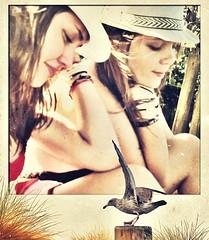 imagine the ocean (CatnessGrace) Tags: girls summer beach seagull teenagers beautifulgirls enteredinsyb