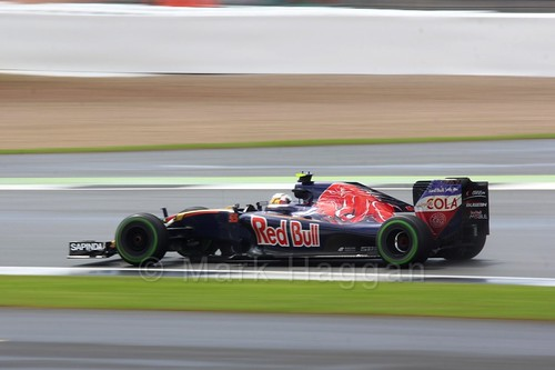 Carlos Sainz Jr Racing for Toro Rosso during The 2016 British Grand Prix