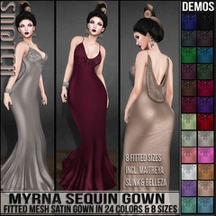 Sn@tch Myrna Sequin Gown Vendor Ad LG (Tess-Ivey Deschanel) Tags: sntch snatch secondlife sl sexy life second style iveydeschanel ivey ihearts alternative avatar alternativeclothing appliers omegasystem outfits omega summer punk pixels pvc clothing clubwear clothes cyberpunk corset shopping mesh model meshclothing meshclothes mini models