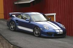 "997 turbo - 023 (Erkka Suominen) Tags: ""cobalt blau porsche"" blue ""bridge gantry"" nürburgring ""porsche 911 turbo"" ""911 ""997 ""pwr700"" ""evoms evt775"" ""evt775"" ""nürburgring bridge pccb"