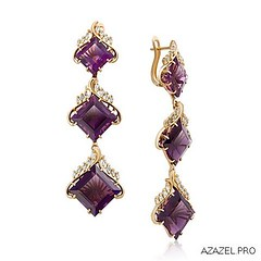 Earrings with Amethysts (Azazel.PRO) Tags: instagramapp square squareformat iphoneography uploaded:by=instagram earrings  art       amethyst fashion   jewelry flowers   gemstone exclusive shop       diamond