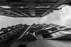 - Slim Look UP - (Mr. LookUP) Tags: istanbul turkey lookup 2016 wideangle canon 60d 1022mm blackandwithe blackwhite bw architecture building urbanexplore streetphotography