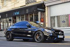 Mercedes C63 S Coup AMG (Monde-Auto Passion Photos) Tags: auto paris france mercedes automobile noir coup classe amg