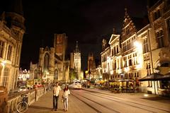 Gent, Belgium. () Tags: street beautiful night canon frank relax friend photographer belgium ngc streetphoto nightview ghent gent  gand 6d saintnicholaschurch  leicaelmaritr24mmf28 hetbelfortvangent