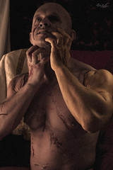 Frankenstein (tim_asato) Tags: timasato evgnykhorin lorealonsomakeup maquillaje monster monstruo scars cicatrices muscle musculo abs pecs jock hunktrunk strud male model masculine masculino bold calvo sey hot sex scary expresion lorealonso makeup frankenstein