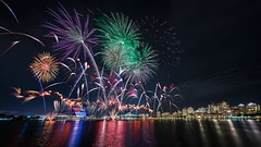 The Night Life (Mabmy) Tags: singapore ndp2016 preview fireworks kallang national stadium reflections tanjongrhu sony a7rii voightlander 12mm evening cityscape colors