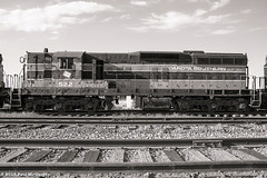 Dakota Southern 522 (LostOzarkRambler) Tags: railroad locomotive diesellocomotive train dakotasouthern railway tracks railroadtracks blackandwhite bw monochrome nikond800 28mm