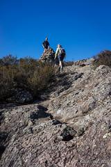 Mt Maroon summit in sight (NettyA) Tags: 2016 australia jacksplace qld queensland sonya7r seqld winter bushwalk mtbarneynationalpark mt maroon landscape scenicrim cairn summit bushwalkers hiking rocks cliffs