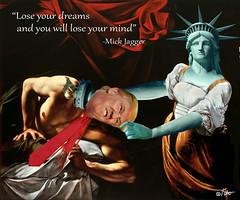 """""""I Had a Dream..."""" (aberrantart) Tags: trump liberty caravaggio politics election republican president satire parody collage drumpf statueofliberty hillary"""
