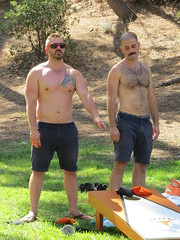 IMG_7031 (danimaniacs) Tags: party griffithpark hot sexy man guy shirtless hunk beard scruff game play toss fun