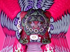 Psychedelic ! (AGUILA81) Tags: leoz peugeotdesignlab peugeot artoyz arttoy toy pink junkomizuno junko mizuno flower psychedelic
