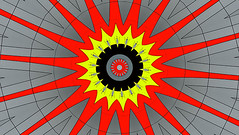Wow (Kombizz) Tags: kombizz kaleidoscope experimentalart experimentalphotoart photoart epa samsung samsunggalaxy fx abstract pattern art artwork 167 red yellow gray black wow brightred