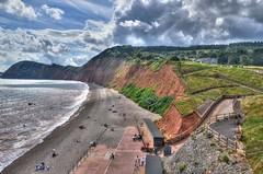 The Devon coast near Sidmouth (Explored) (Baz Richardson) Tags: devon sidmouth cliffs redsandstone peakhill beaches pebblebeaches seascapes explored