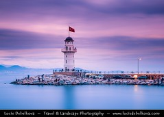 Turkey - Antalya Province - Alanya and its Lighthouse at Sunset ( Lucie Debelkova / www.luciedebelkova.com) Tags: alanya antalyaprovince turkey turkish trkiye republicofturkey trkiyecumhuriyeti turecko eurasian westernasia asia eastthrace middleeast ottoman turks asien mediterranean journey trip travel vacation holiday holidays tourism beach coast color colour anatalya taurus mountain site tourist outdoor scenic landscape scenery sightseeing attraction destination sea seaside seacoast seashore coastal shore coastline shoreline beautiful view vista panorama paysage outdoors landschaft atmosphere breathtaking beaut dusk dramaticlight fantastic licht light magiclight lumire dawn wonderful paesaggio sunset wwwluciedebelkovacom luciedebelkova