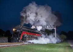 Gettin' started. (WillJordanPhoto) Tags: trains fireup611 611 nw virginia northcarolina transportation museum night sunrise steam locomotive norfolksouthern norfolkwestern