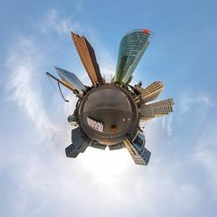 Potsdamer Platz, Berlin (Little Planet) (ako_law) Tags: potsdamerplatz berlin berlinmitte skyscapers littleplanet ptgui nodalninja nodalninja3markii canoneos6d samyang14mm
