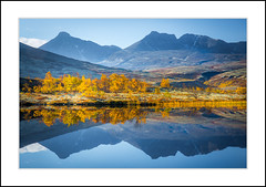 Autumn Trees (andreassofus) Tags: autumn fall drlseter rondane rondanenationalpark mountains reflections water mirror landscape grandlandscape nature beautiful amazing color colorful blue yellow norway travel travelphotography mountainscapes scendinavia canon outdoor