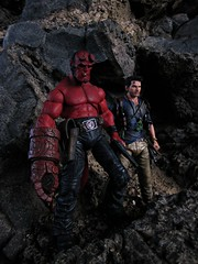 Nathan Drake, BPRD (Geek Creek) Tags: hellboy bprd mezco drake nathandrake neca videogames toys toyphotography actionfigures necadrake uncharted