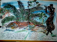 Cycads Roots - Timor Diary - by Keith Hansen (keiths artwork) Tags: artists diaries by keith hansen international artist
