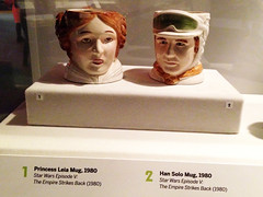 Museum of Moving Images (LisaHong) Tags: new york museum star mugs moving princess images solo movies wars han leia