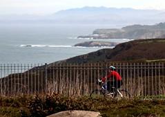 Paseo en bicicleta por la costa Asturiana. /  Cycling in the Asturian coast. Cabo de Pea. (pauli.lazo) Tags: blue sea naturaleza nature mar nikon asturias beatiful martimo nikonusers nikonistas beatifulcapture naturalezacautivadora