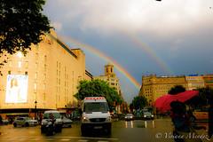 Arcoiris doble. Double rainbow (Vivi.Mendez) Tags: sunset nature water arcoiris clouds canon rainbow double doublerainbow doblearcoiris