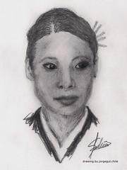 My Drawings. Lucy Liu as O-Ren Ishii. (SOBREVALORADO) Tags: portrait cinema sketch lucyliu drawing retrato picture cine dibujo killbill oren tarantino lpiz esbozo