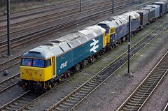 """47847 and 47843 """"Vulcan"""" - Doncaster Decoy Yards - 25-03-15 (techno-phobe) Tags: vulcan duff doncaster class47 47843 gbrf 47847 doncasterdowndecoyyard"""