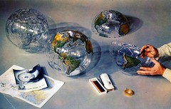 Farquhar Transparent Tool Globe Philadelphia PA (Edge and corner wear) Tags: color set pencil vintage advertising see pc globe hands box earth postcard some advertisement plastic chrome card translucent colored instructions teaching through trade tool geographic assembly required distinction