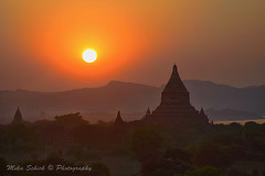 Sunset in Bagan (mikaschick) Tags: travel trees sunset sun mist detail building tree water horizontal fog closeup architecture night digital buildings river landscape asian outside outdoors temple evening landscapes twilight scenery asia southeastasia architecturaldetail outdoor dusk burma details horizon hill religion scenic sunsets halo architectural hills ridge nighttime rivers temples nights myanmar mm closeups burmese halos suns evenings nightfall ridges bagan atdusk mists horizons architecturaldetails scenicview horizontals scenicviews colorimage outsides colourimage colorimages colourimages mikaschick
