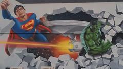 Taupo, New Zealand... (colourourcity) Tags: startrek newzealand streetart graffiti awesome superman nz taupo kiwi laketaupo cliches thehulk graffitato streetartnz colourourcity graffiatostreetartfestival colourourcitynz