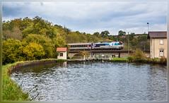 SNCF 72147, Poulangy 12.10.2014 (VTZK) Tags: france water train river canal lock zug trein sluis sncf fleuve marne rivier écluse saône ligne4 72000 cc72000 poulangy