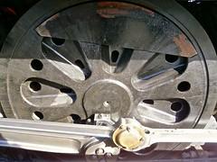 Sir Keith Park 34053, Bulleid Firth Brown wheel, Kidderminster, SVR 04-15 (spiralsheep) Tags: uk england train photo britain railway locomotive worcestershire steamengine svr steamlocomotive severnvalleyrailway kidderminster 2015