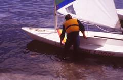Laser Dinghy (22mod) (AngusInShetland) Tags: film 35mm scotland slidefilm laser shetland lerwick dinghy ricohkr5 laserdinghy canoscan5600f
