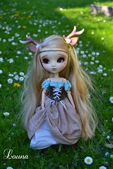Promenade en forêt pour Vanille (~Louna~) Tags: forest makeup full fairy wig faery pullip custom fc custo nymphe obitsu