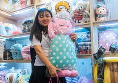 North korean teen defector buying a funny pillow, National capital area, Seoul, South korea (Eric Lafforgue) Tags: woman cute childhood shop horizontal closeup shopping asian fun toys store stuffed funny asia soft forsale display candid object refugee bears adorable fluffy plush pillow indoors commercial seoul teenager products choice variety southkorea youngadult sweetness assortment consumerism oneperson consumer defector 1819years lookingatcamera northkorean 1617years waistup 1people nationalcapitalarea colourpicture koreanethnicity sk162387