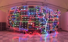 Washington, DC, Smithsonian Museum of American Art and the National Portrait Gallery. (marilora) Tags: art smithsonian video neon installation artmuseum videoart namjunepaik smithsonianmuseumofamericanart
