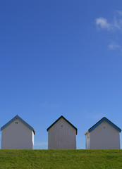 Cloud #9 (Caroline Oades) Tags: huts beachhuts seaside coast worthing westsussex cabins