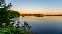 _sunrise (dan.levchenko) Tags: camping lake green nature minnesota sunrise landscape nikon hike canoe f28 campsite loon