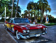 Cadillac HDR (Jotha Garcia) Tags: red summer car rojo july palmeras cadillac coche palmtree julio verano vehicle hdr oropesa nikond3200 cvalenciana jothagarcia